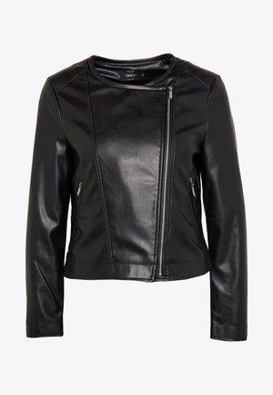 ONLDALY JACKET - Faux leather jacket - black