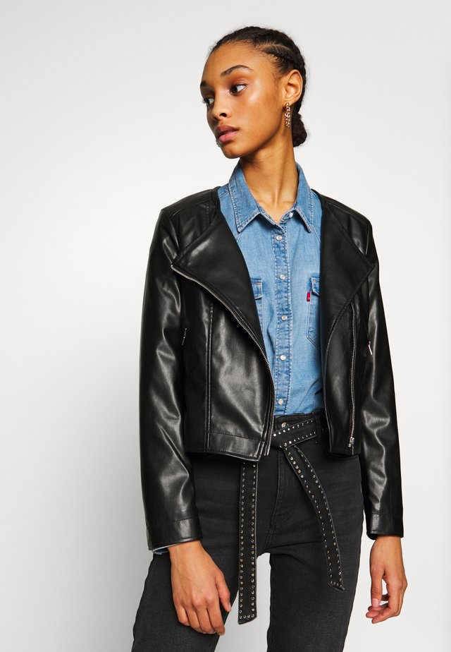 ONLDALY JACKET - Veste en similicuir - black