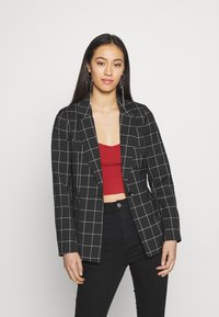ONLY - ONLCAROLINA CHECK - Blazer - black/creme - 0