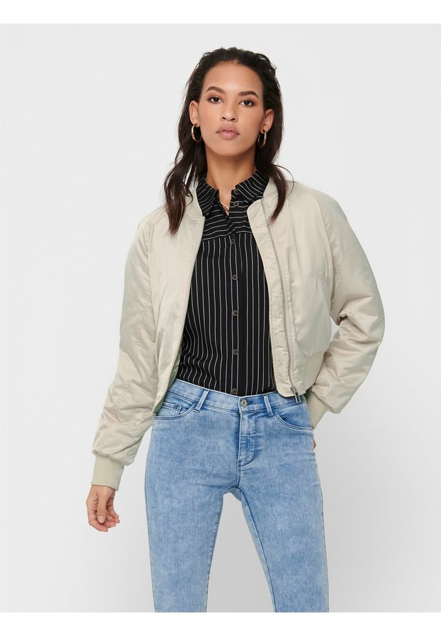 ONLMALCOM - Chaquetas bomber - frosted almond