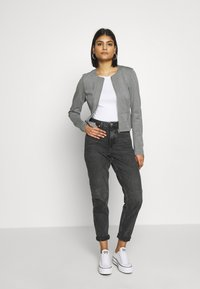 ONLY - ONLPOPTRASH ZIP  - Blazer - medium grey melange - 1