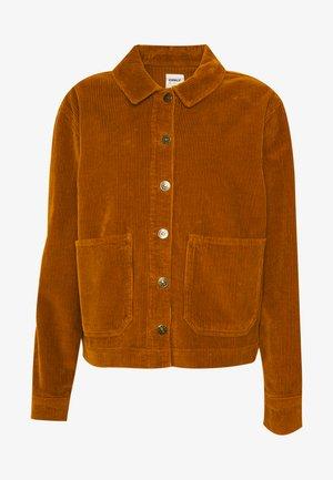 ONLJONES CORDEROY JACKET - Lehká bunda - rustic brown
