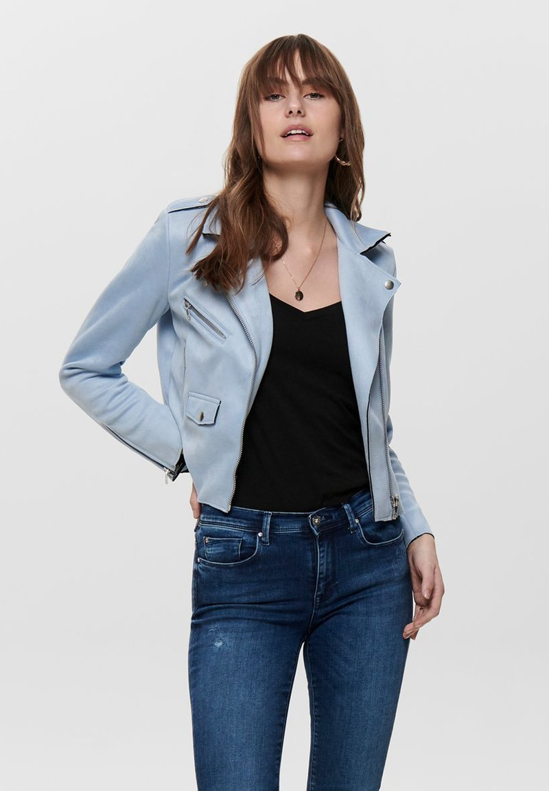 ONLY - BIKER - Jacka i konstläder - kentucky blue