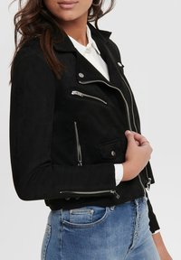 ONLY - BIKER - Giacca in similpelle - black