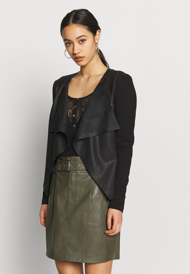 ONLNEWSOUND JACKET - Giacca in similpelle - black