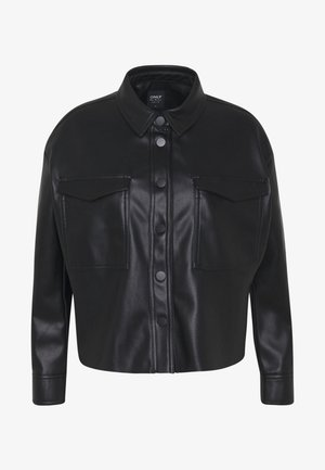 ONLKAISER JACKET - Faux leather jacket - black