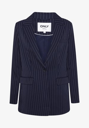 ONLSUSIE CHARMING STRIPE BLAZER - Krátký kabát - night sky/cloud dancer
