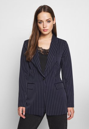 ONLSUSIE CHARMING STRIPE BLAZER - Kort kåpe / frakk - night sky/cloud dancer