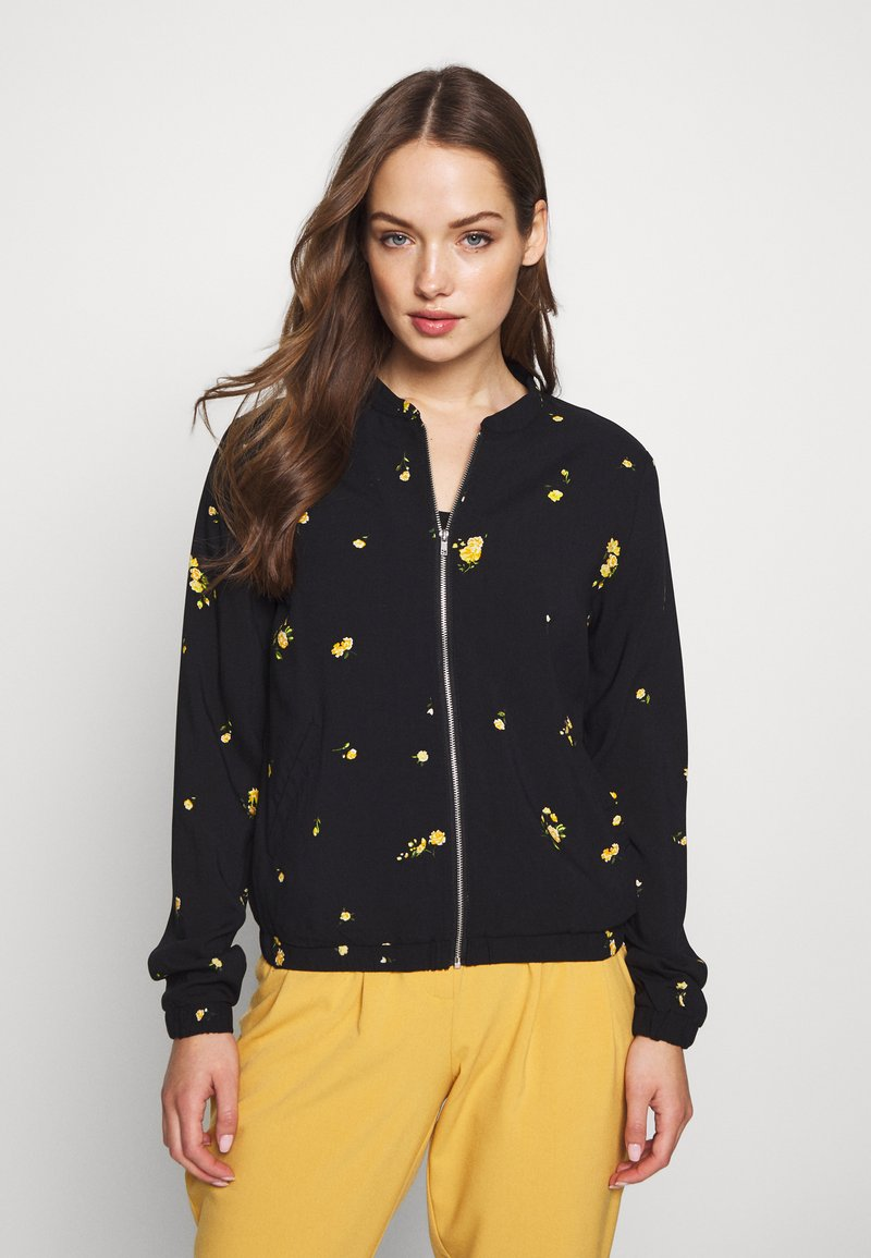 ONLY - ONLALISA LIFE BOMBER JACKET - Bomberjacka - black/yellow