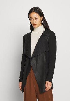 ONLNEWSOUND LONG FAUX LEATHER COAT - Krátký kabát - black