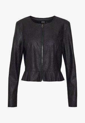 ONLBALLERINA JACKET - Faux leather jacket - black
