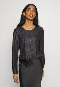 ONLY - ONLBALLERINA JACKET - Faux leather jacket - black - 0