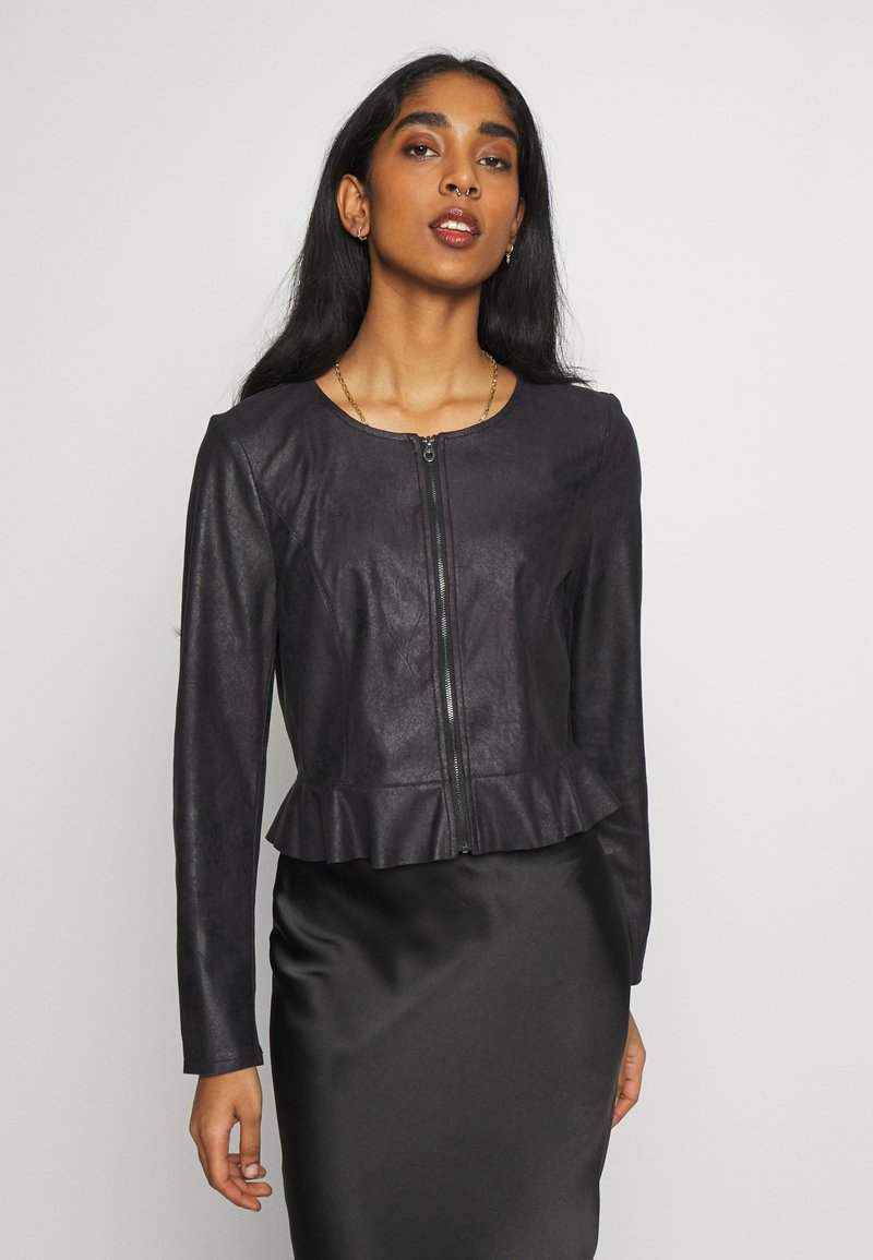 ONLY - ONLBALLERINA JACKET - Faux leather jacket - black