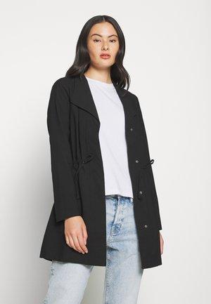 ONLSILLE DRAPY - Short coat - black