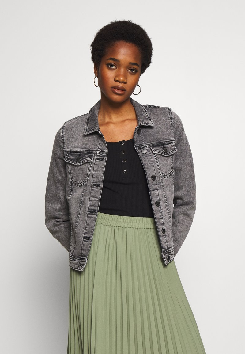 ONLY - ONLTIA JACKET - Denim jacket - grey denim