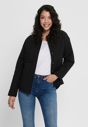 STEPPJACKE KURZ GESCHNITTENE - Light jacket - black