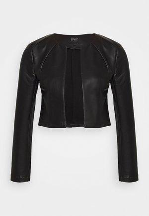 ONLDAISY BOLERO - Faux leather jacket - black