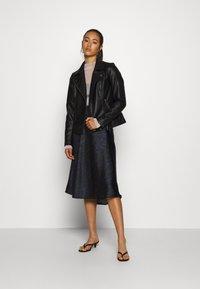 ONLY - ONLMELISA BIKER - Faux leather jacket - black - 1