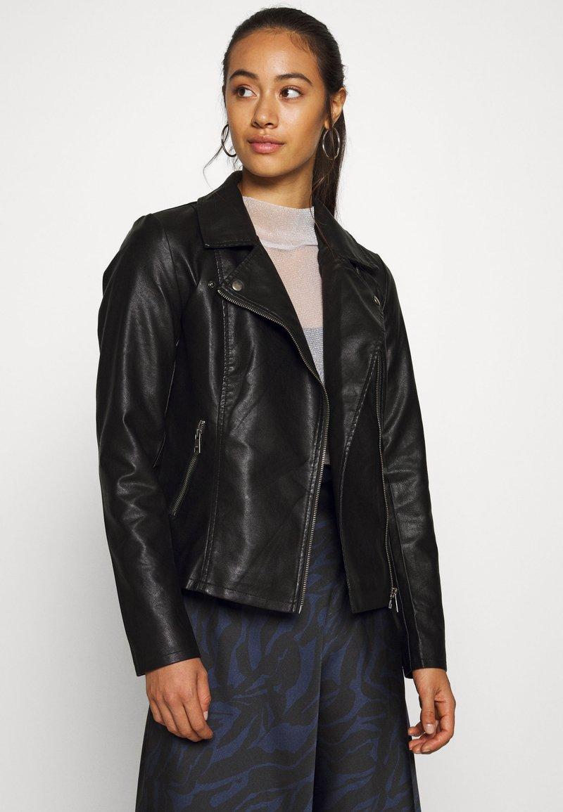 ONLY - ONLMELISA BIKER - Faux leather jacket - black
