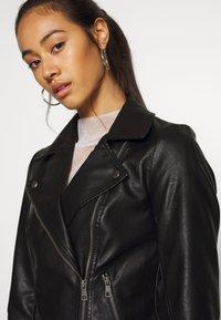 ONLY - ONLMELISA BIKER - Faux leather jacket - black - 4