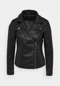 ONLY - ONLMELISA BIKER - Faux leather jacket - black - 3