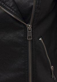 ONLY - ONLMELISA BIKER - Faux leather jacket - black - 5