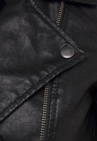 ONLY - ONLMELISA BIKER - Faux leather jacket - black - 6
