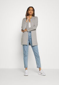 ONLY - ONLPENNY COATIGAN - Blazer - medium grey melange - 1