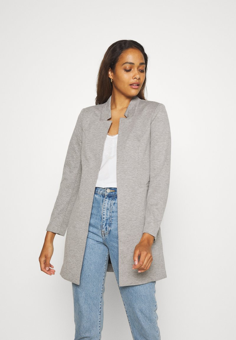 ONLY - ONLPENNY COATIGAN - Blazer - medium grey melange