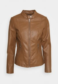 ONLY - ONLMELISA  - Faux leather jacket - cognac - 0