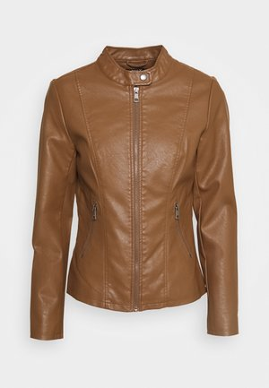 ONLMELISA  - Faux leather jacket - cognac