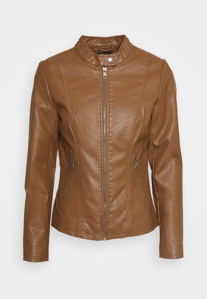 ONLY - ONLMELISA  - Faux leather jacket - cognac