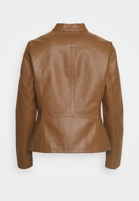 ONLY - ONLMELISA  - Faux leather jacket - cognac - 1
