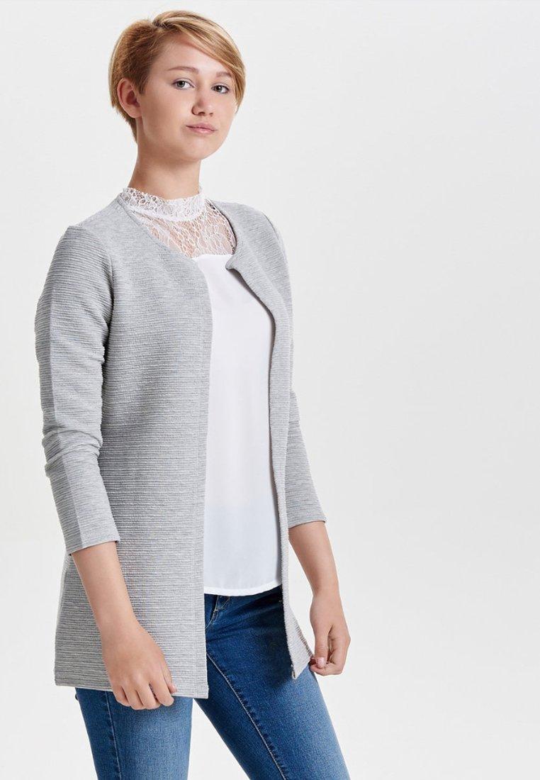 ONLY - ONLLECO LONG CARDIGAN - Cardigan - light  grey melange