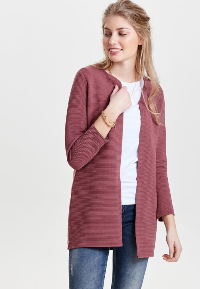 ONLLECO LONG  - Chaqueta de punto - dark red