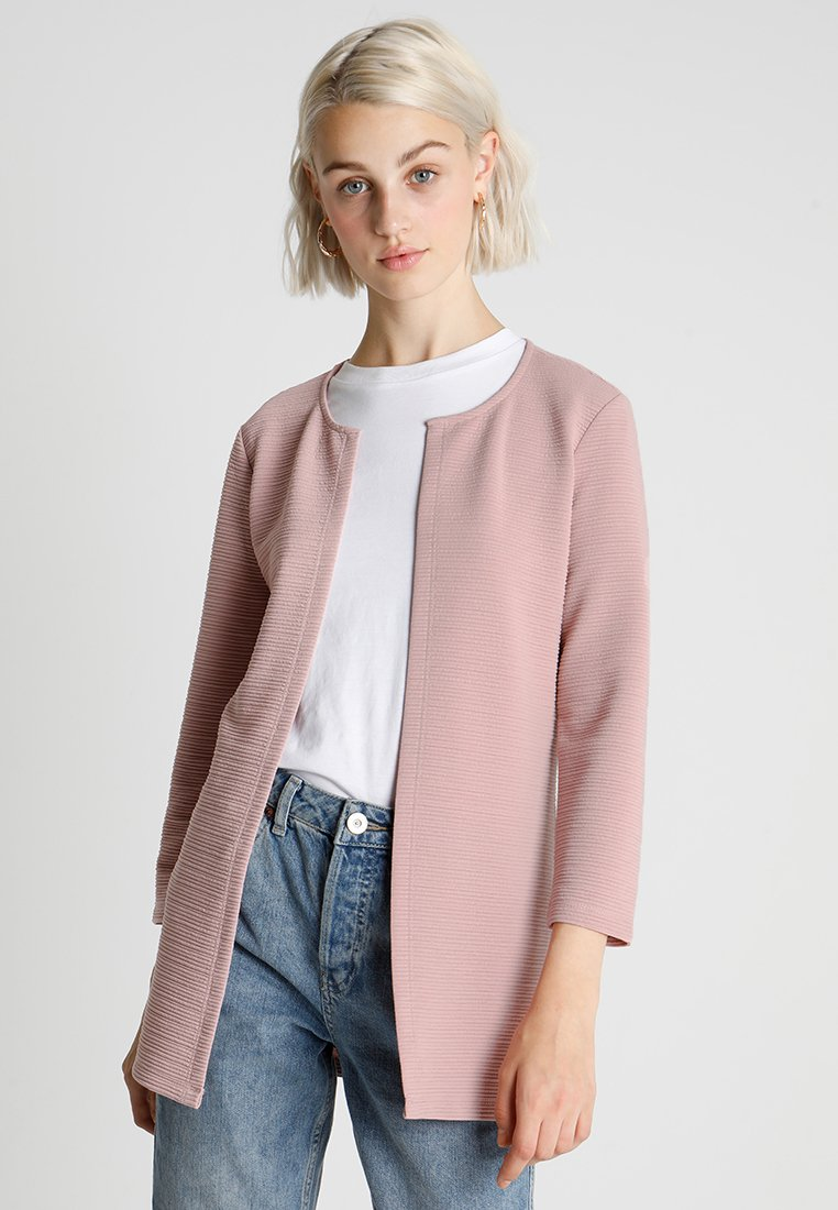 ONLY - ONLLECO LONG CARDIGAN - Cardigan - pale mauve