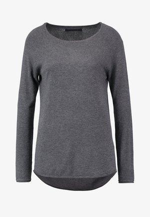 ONLMILA LACY LONG - Strickpullover - medium grey melange