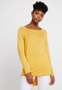 ONLY - ONLMILA LACY LONG - Sweter - yolk yellow - 0