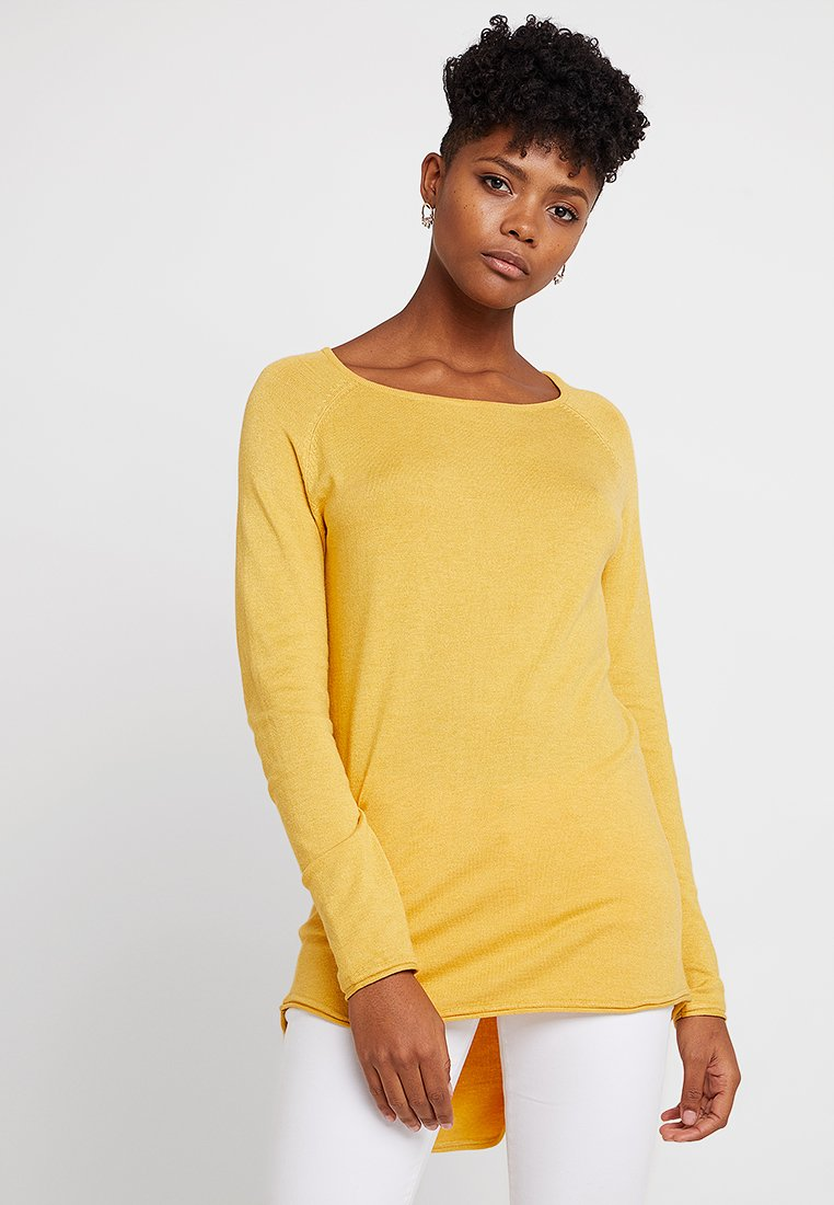 ONLY - ONLMILA LACY LONG - Sweter - yolk yellow