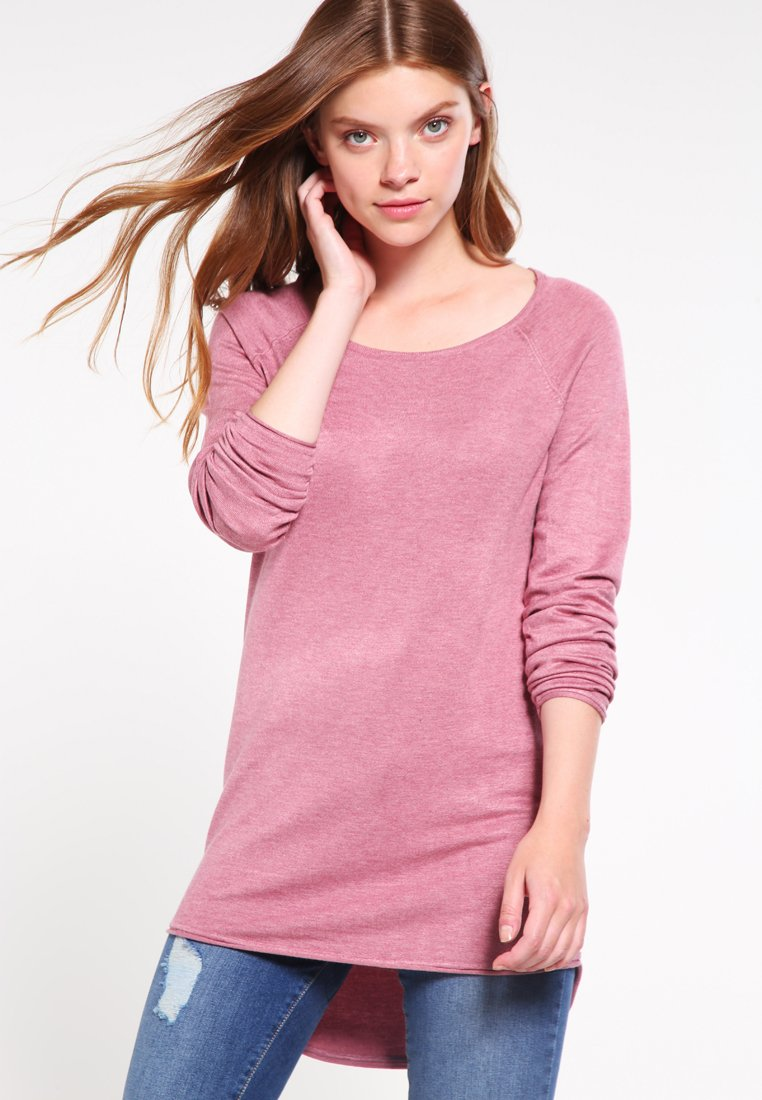 ONLY - ONLMILA LACY LONG - Strickpullover - mesa rose