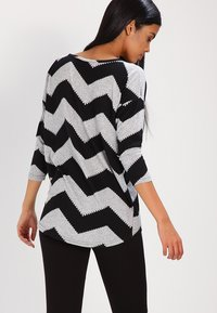 ONLY - ONLELCOS - Strickpullover - light grey melange/black - 2