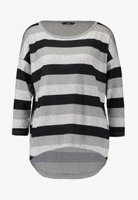 light grey melange/stripes