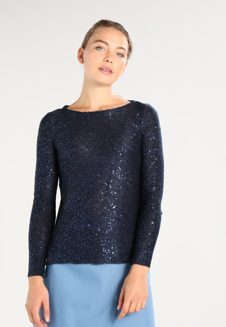ONLY - ONLADELE  - Jumper - sky captain/matching sequins