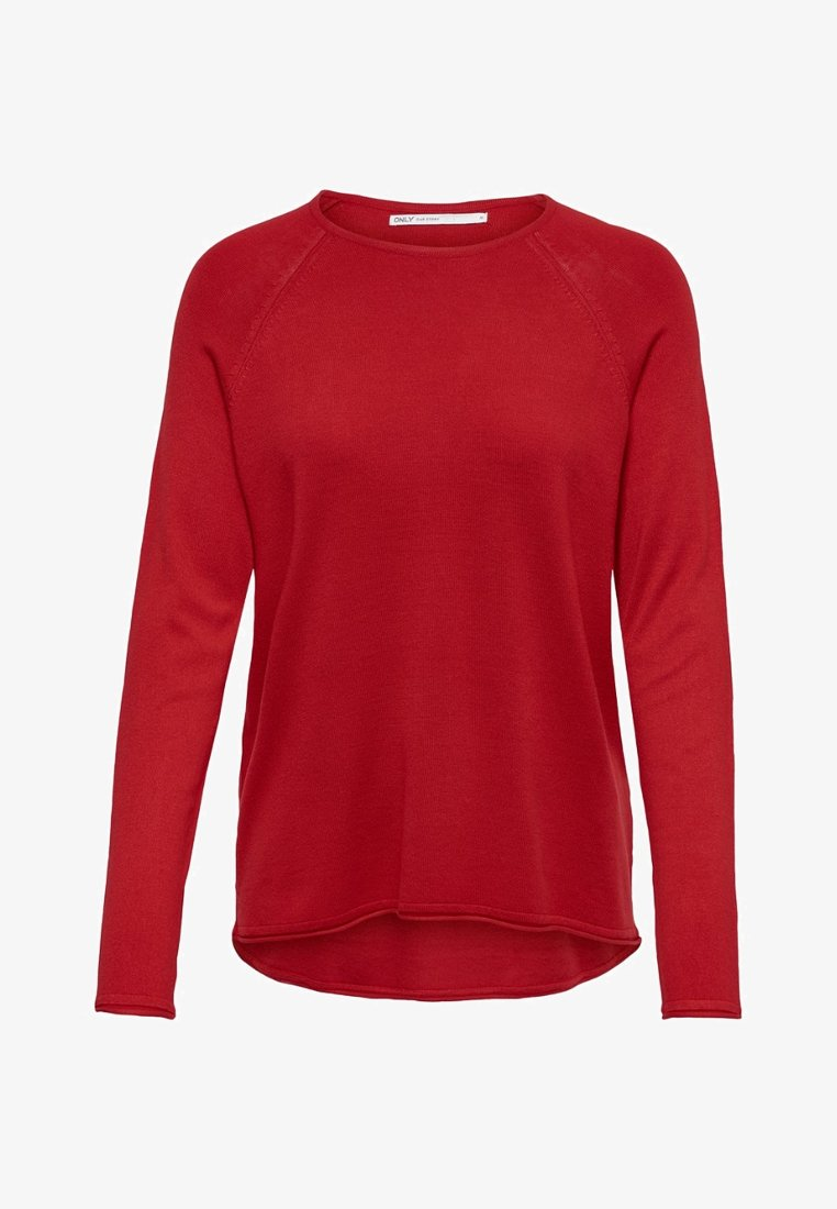 ONLY - ONLMILA LACY - Strickpullover - sun-dried tomato