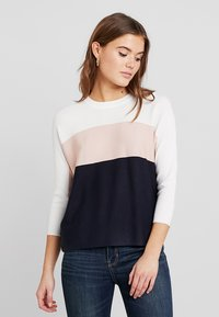 ONLY - ONLREGITZE - Jumper - cloud dancer/cameo rose/sky capt - 0