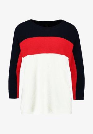 ONLREGITZE - Pullover - night sky/high risk red/cloud dancer