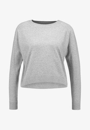 ONLVIA PLAIN - Stickad tröja - light grey melange