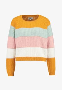 ONLY - ONLMALONE STRIPE - Strikkegenser - golden yellow/ether/misty rose - 4