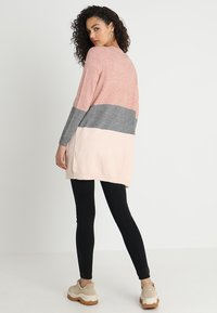 ONLY - ONLQUEEN - Cardigan - misty rose/mottled grey melange/cloud pink melange - 2