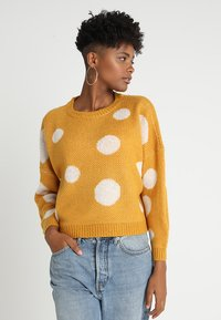 ONLY - ONLTIFFANY - Jersey de punto - golden yellow/cloud dancer - 0